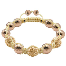 Tresor Paris Bracelet 10mm Gold Crystal Stainless Steel 019212