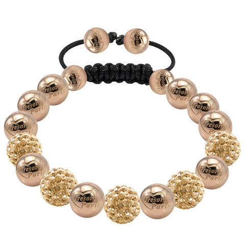 Tresor Paris Bracelet 8mm Rose Gold Crystal S