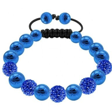 Tresor Paris Bracelet 8mm Blue Crystal