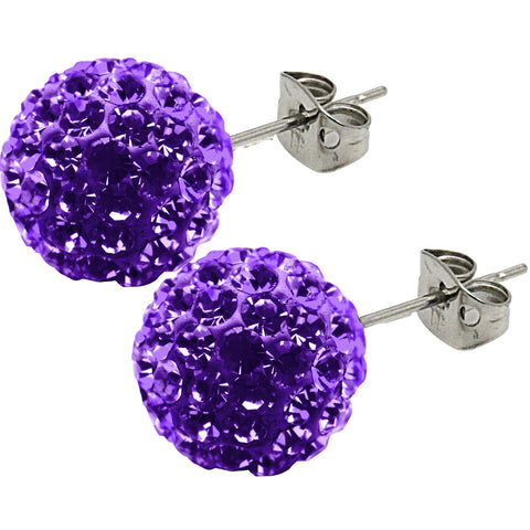 Tresor Paris Earrings Candeur Violet 8mm