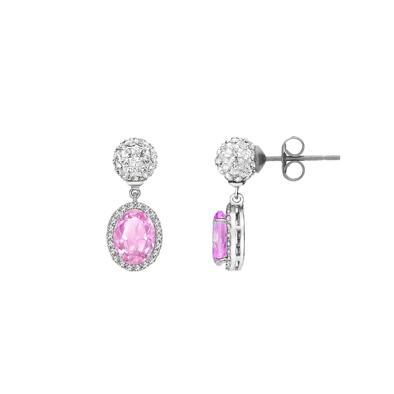 Tresor Paris Earrings Souverain Rose