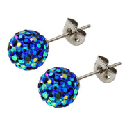 Tresor Paris Earrings Orbite Bleu 8mms 020557