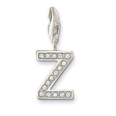 Thomas Sabo Charm  Sterling Silver Club Letter Z White Zirconia
