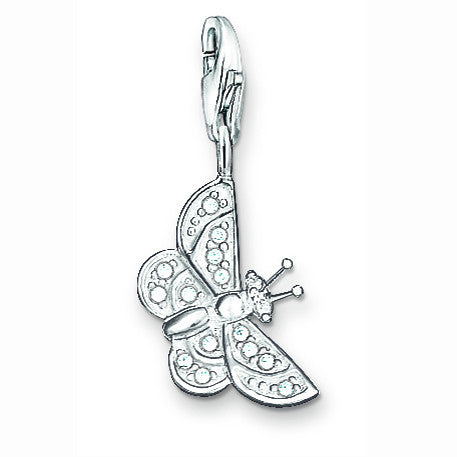 Thomas Sabo Charm  Butterfly Silver And Zirconia