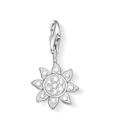 Thomas Sabo Charm  Sterling Silver Club Sun White Zirconia