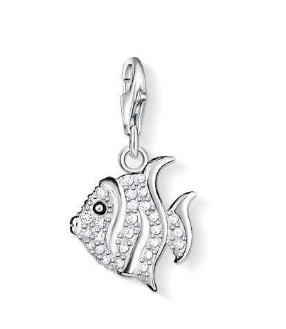 Thomas Sabo Charm  Sterling Silver Club Fish White Zirconia