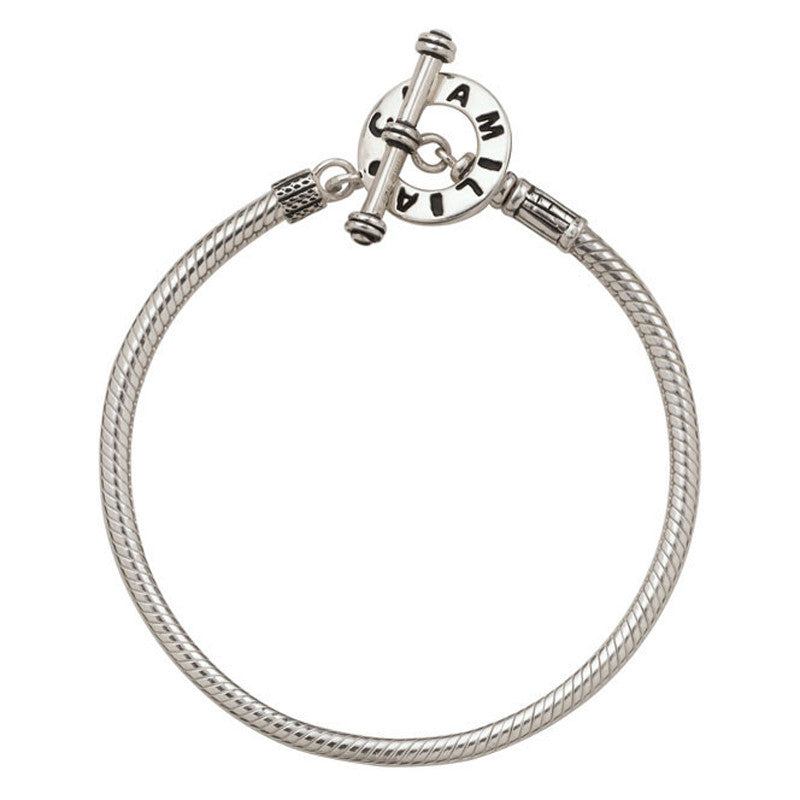 Chamilia Bracelet Double Snake T-Bar Small