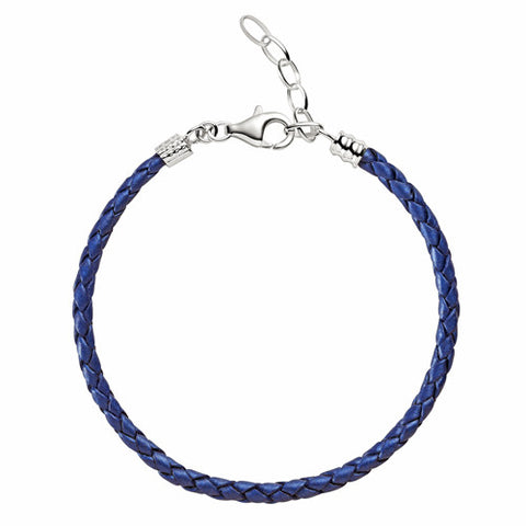 Chamilia Bracelet Blue Leather