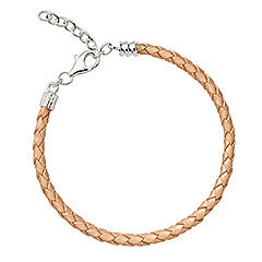 Chamilia Bracelet Brush Metallic Braided Leather S