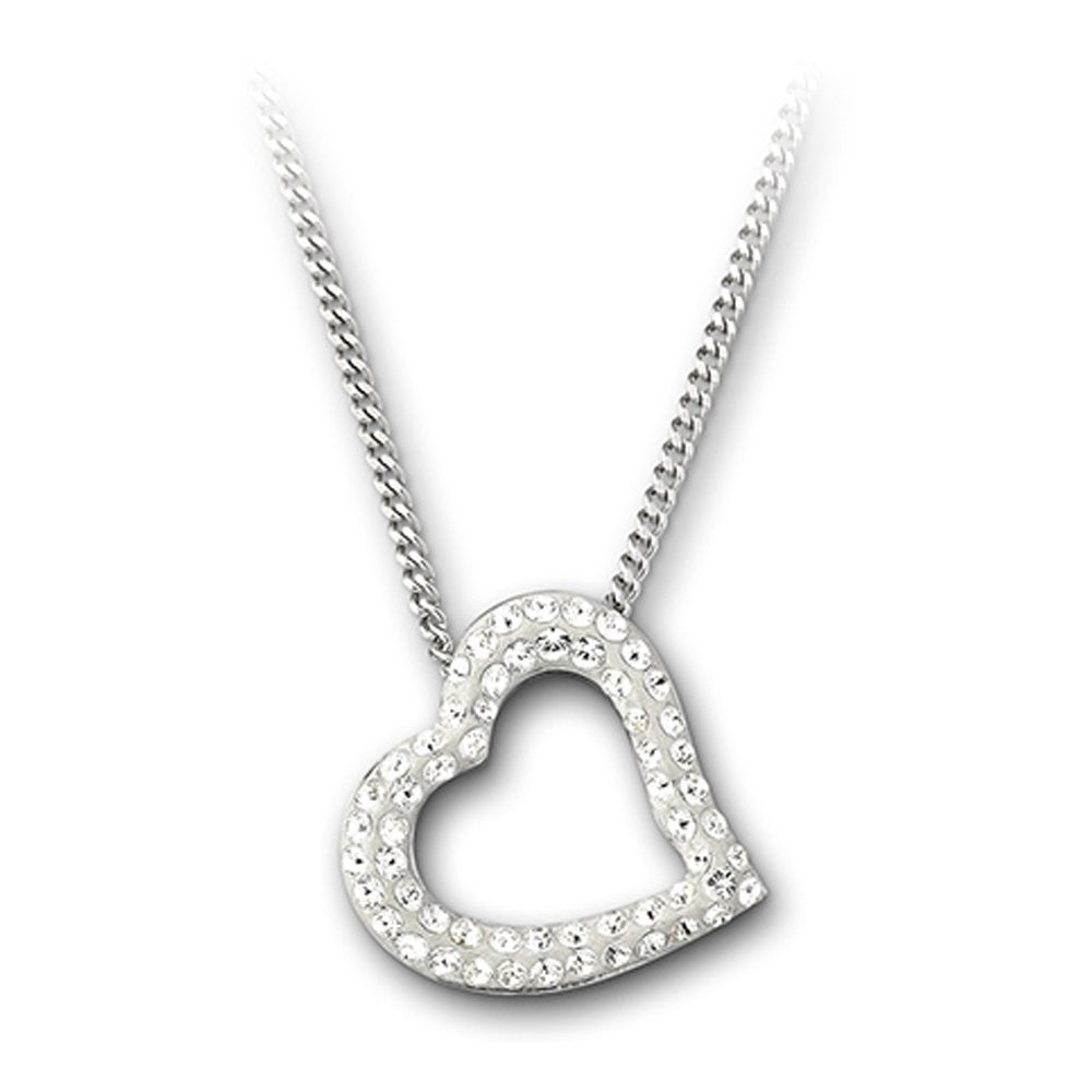 Swarovski Necklace Pave Heart Mozart