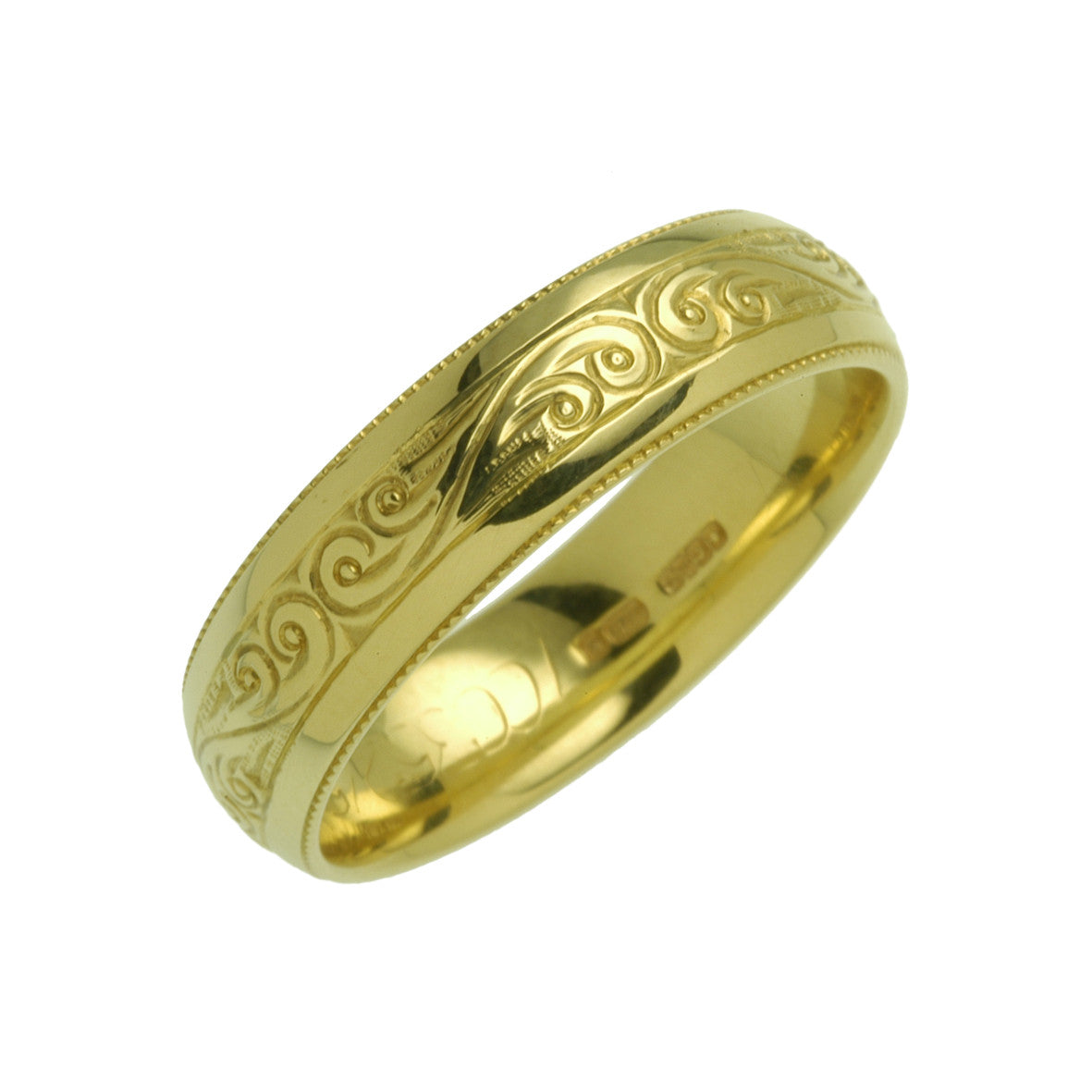 Charles Green Patterned Wedding Ring