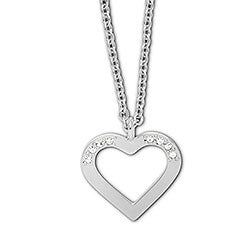 Swarovski Necklace Heart Charmed