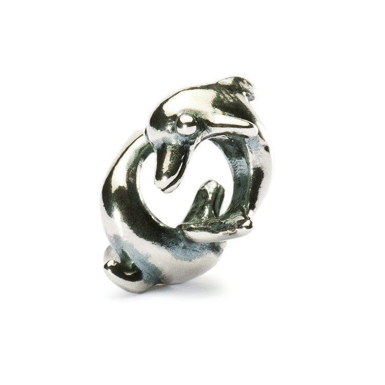 Trollbeads Bead Playing Dolphins