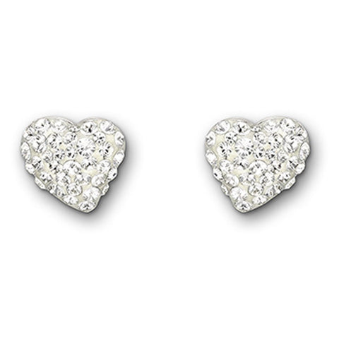 Swarovski Earrings Pave Heart Alana