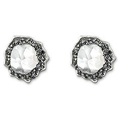 Swarovski Earrings Poison Silvernight Pierced