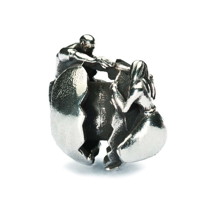 Trollbeads Bead Holding Onto Love Silver