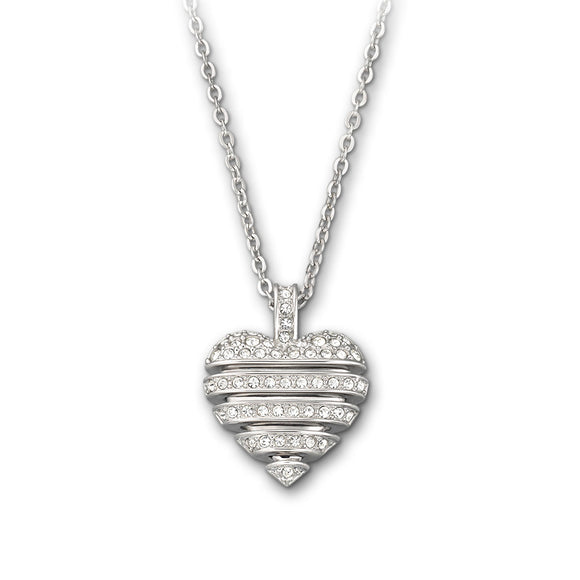 Swarovski Necklace Pave Heart Sensible