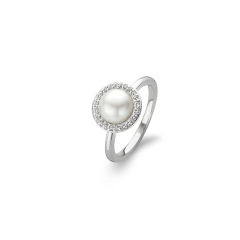 Ti Sento Ring Pearl And Cubic Zirconia Silver