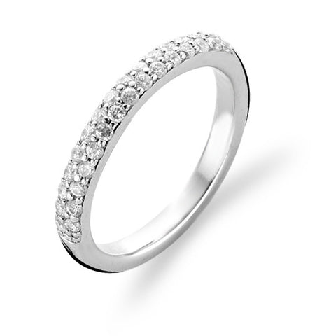 Ti Sento Ring Silver And White Cubic Zirconia Pave Set