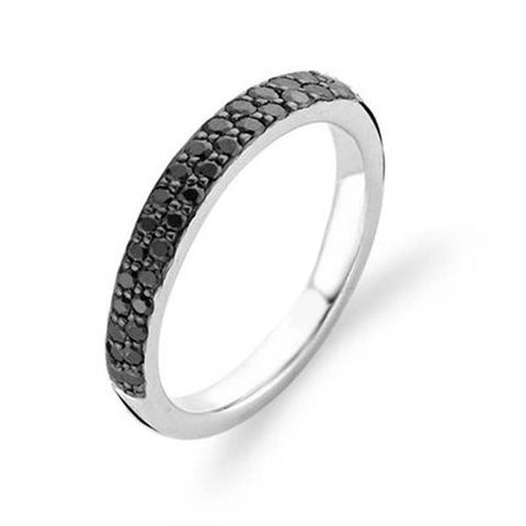 Ti Sento Ring Pave Black