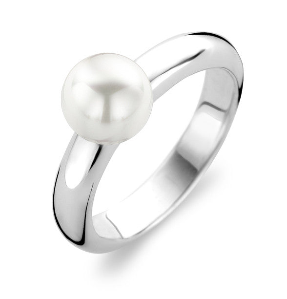 Ti Sento Ring Silver and Pearl Ball Top