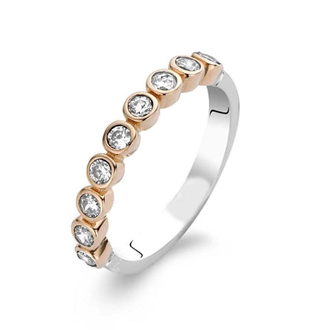 Ti Sento Ring Rose Gold And Silver