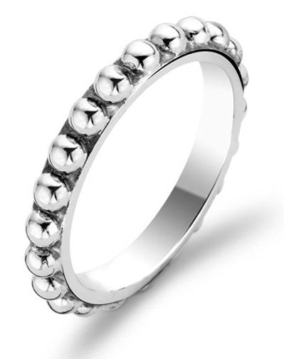 Ti Sento Ring Silver Beaded