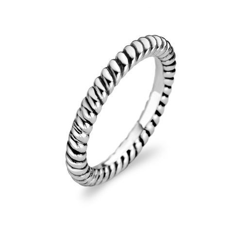 Ti Sento Ring Silver Rope Twist
