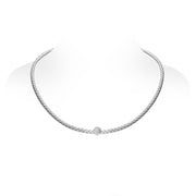 18ct White Gold Diamond Pave Set Necklet, CH03-18WH-N_A