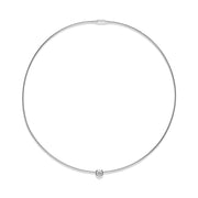 18CT WHITE GOLD DIAMOND WIRE COLLAR NECKLACE