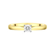 18ct Yellow Gold 0.33ct Diamond Brilliant Cut Solitaire Ring FEU-2322