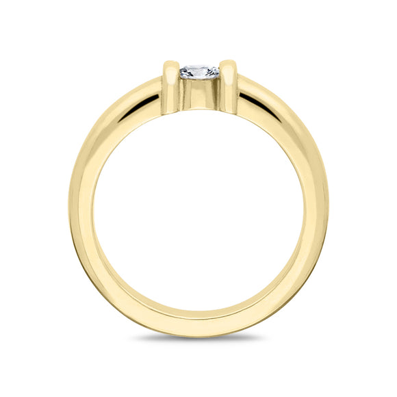 18ct Yellow Gold Diamond Solitaire Ring T3770