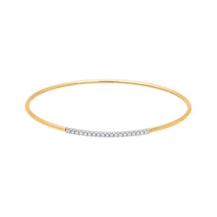 18ct Rose Gold 0.17ct Diamond Bangle