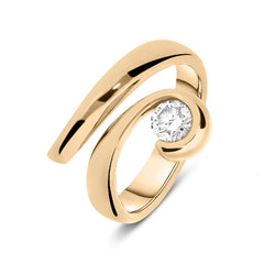 18ct Rose Gold 0.48ct Diamond Dress Ring