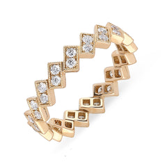 18ct Rose Gold 0.69ct Diamond Stacking Ring