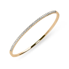 18ct Rose Gold 0.92ct Diamond Bangle