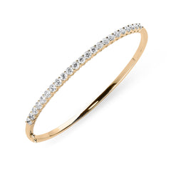 18ct Rose Gold 2.02ct Diamond Hinged Bangle