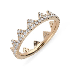 18ct Rose Gold 0.63ct Diamond Geometric Stacking Ring
