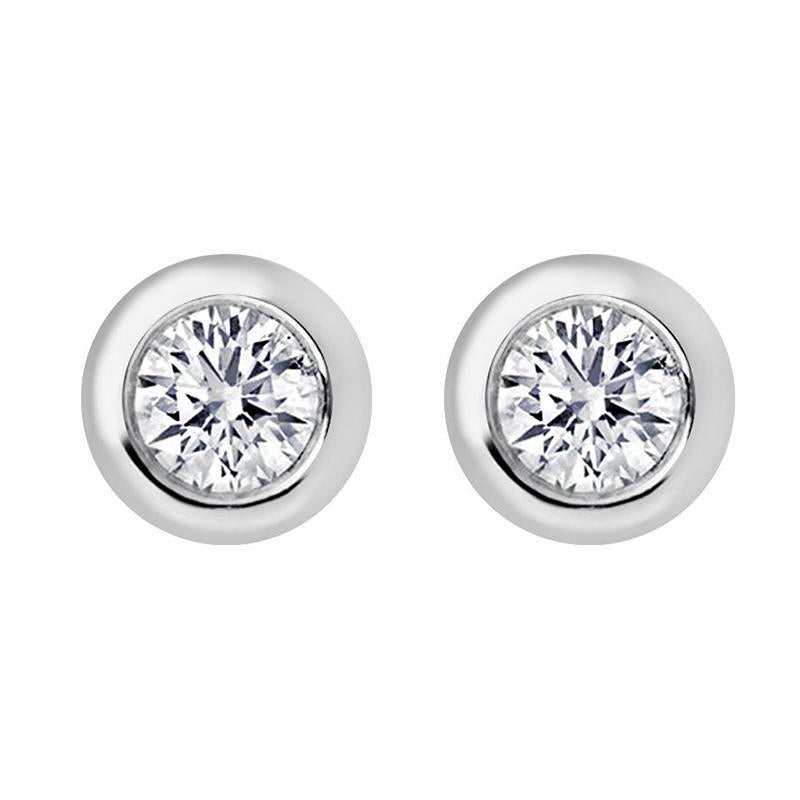 18ct White Gold 0.10ct Diamond Solitaire Stud Earrings