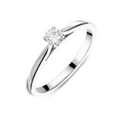 18ct White Gold 0.16ct Diamond Brilliant Cut Solitaire Ring
