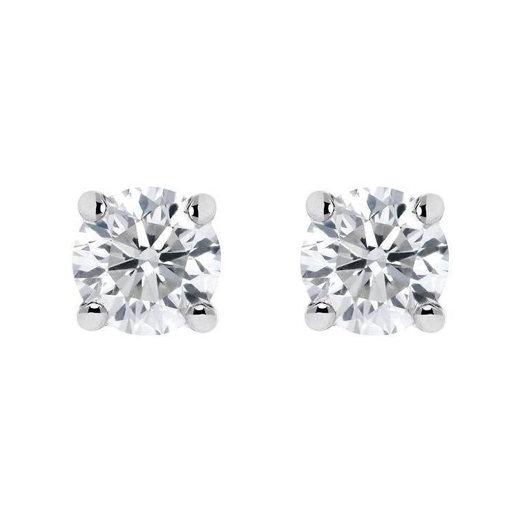 18ct White Gold 0.20ct Diamond Solitaire Stud Earrings
