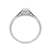 18ct White Gold 0.25ct Diamond Brilliant Cut Solitaire Ring, R950.