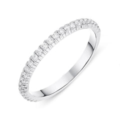 18ct White Gold 0.28ct Diamond Half Eternity Ring