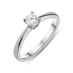18ct White Gold 0.30ct Diamond Brilliant Cut Solitaire Ring