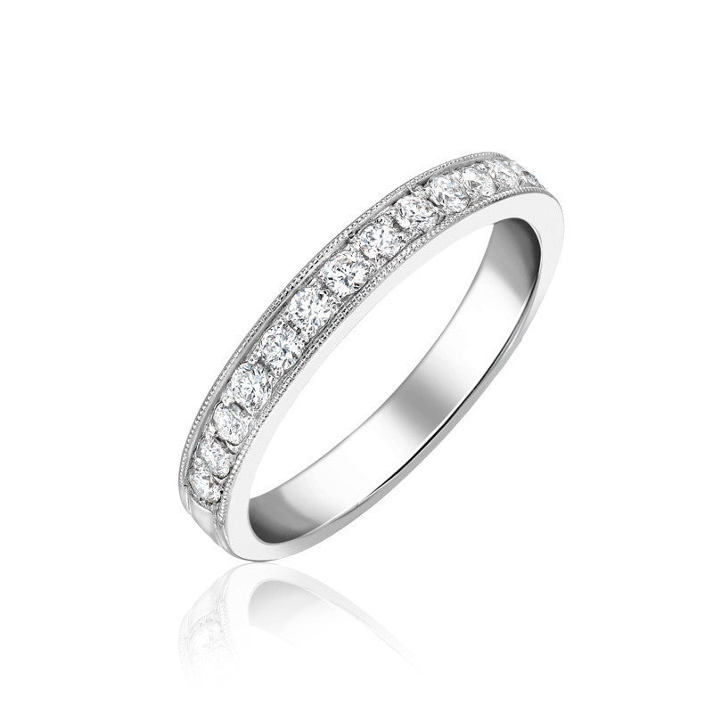 18ct White Gold 0.30ct Diamond Half Eternity Ring