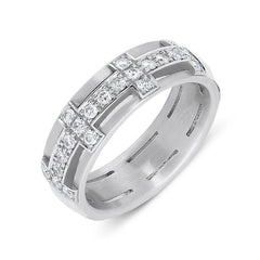 18ct White Gold 0.31ct Diamond Band Ring