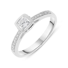 18ct White Gold 0.37ct Diamond Princess Cut Ring