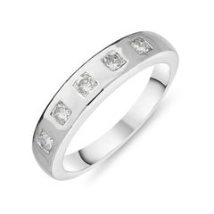 18ct White Gold 0.39ct Diamond Brilliant Cut Half Eternity Ring