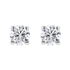 18ct White Gold 0.40ct Diamond Claw Set Solitaire Stud Earrings