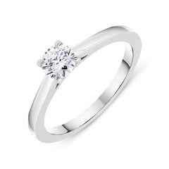18ct White Gold 0.41ct Brilliant Cut Diamond Solitaire Ring